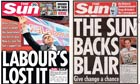 The Sun front pages composite image