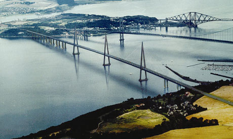 An artist's impression of how the new Forth Bridge will look when completed.
