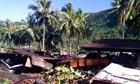 Samoa tsunami: scene of devastation in Leone village, American Samoa