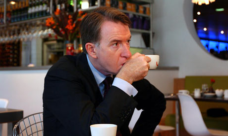 Lord Mandelson at Labour party conference
