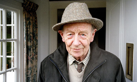 William Trevor at home in Exeter