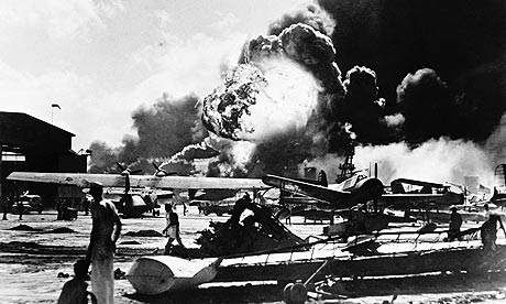Military airfield near Pearl Harbor after the attack