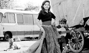 Roxy Freeman and her brother Rollin practising flamenco