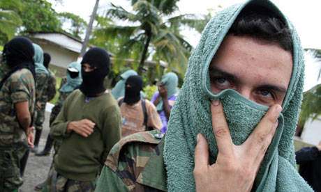 Members of the &#39;Rastrojos&#39; drug trafficking group, Colombia