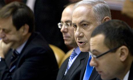 Binyamin Netanyahu addresses the weekly cabinet meeting in Jerusalem