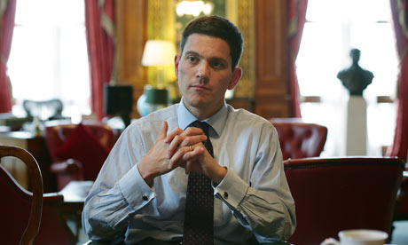 Foreign Secretary David Miliband in his office, at the Foreign Office, London