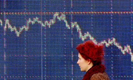 A graph of share prices.