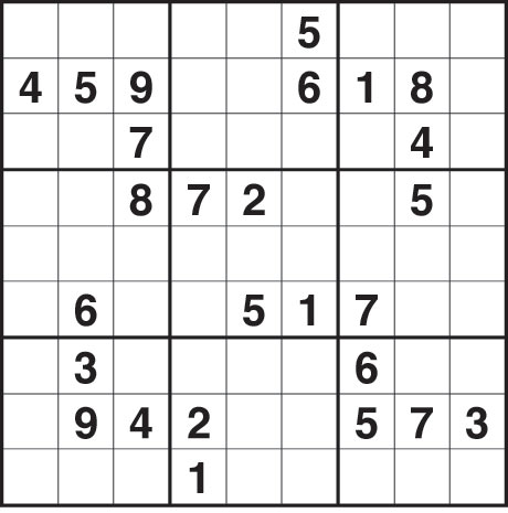 Sudoku Medium The Guardian Sudoku 1517 medium. fill the grid so that ...