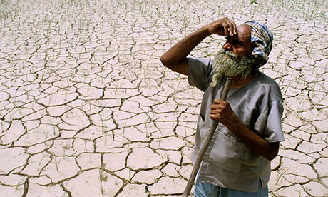 Indian farmer drought
