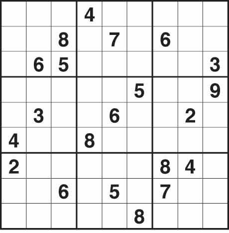 Sudoku 1,596 hard