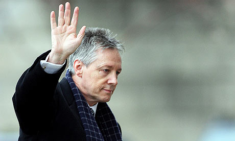 Northern Ireland first minister, Peter Robinson, who has stepped aside