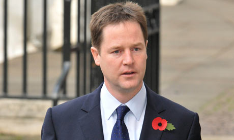 Nick Clegg at Westminster Abbey, London