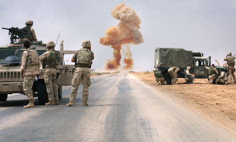 US marines in action during the Iraq war