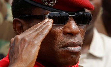 Guinea's military leader, Moussa Dadis Camara, shot by an aide, has reappeared in public
