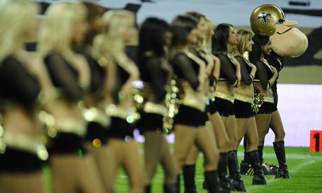 Cheerleaders bring American culture to Wembley