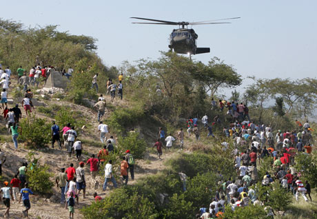 us airborne drop aid in Haiti