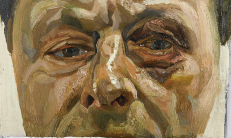 Detail from Lucian Freud's Self-Portrait With a Black Eye
