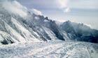 Aerial view of the Siachen Glacier