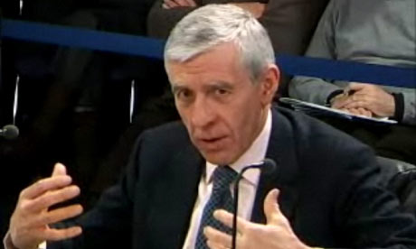 Jack Straw giving evidence to the Chilcot Iraq war inquiry