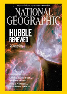 February 2010 issue of National Geographic magazine