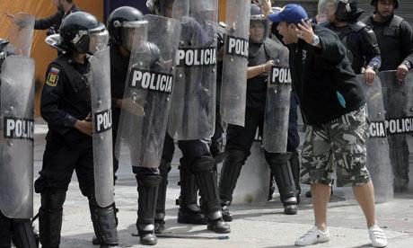 Protesters in Venezuela