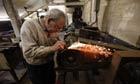 Pocket knife maker Trevor Ablett in his Sheffield workshop.
