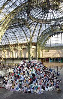 Christian Boltanski's Personnes, in the Grand Palais, Paris.