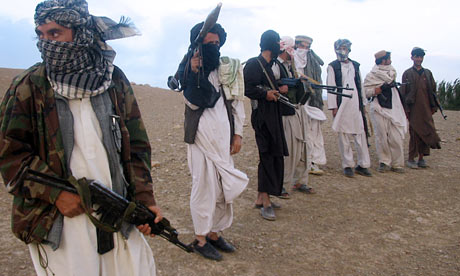 Taliban fighters in Afgha 001 Pakistan helping Taliban: secret Nato report