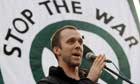 Lance Corporal Joe Glenton addresses a Stop the War demonstration in London.