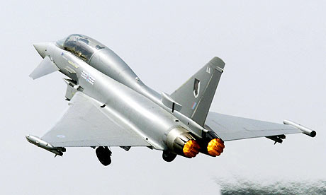 A BAE Eurofighter Typhoon fighter jet
