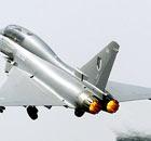 A BAE Eurofighter Typhoon fighter jet