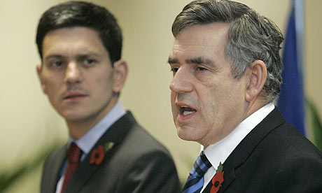 David Miliband and Gordon Brown