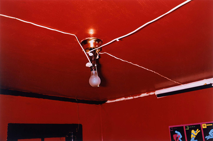 William Eggleston, Red Ceiling, Greenwood, Mississippi.