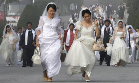 Mass wedding in Asan, South Korea