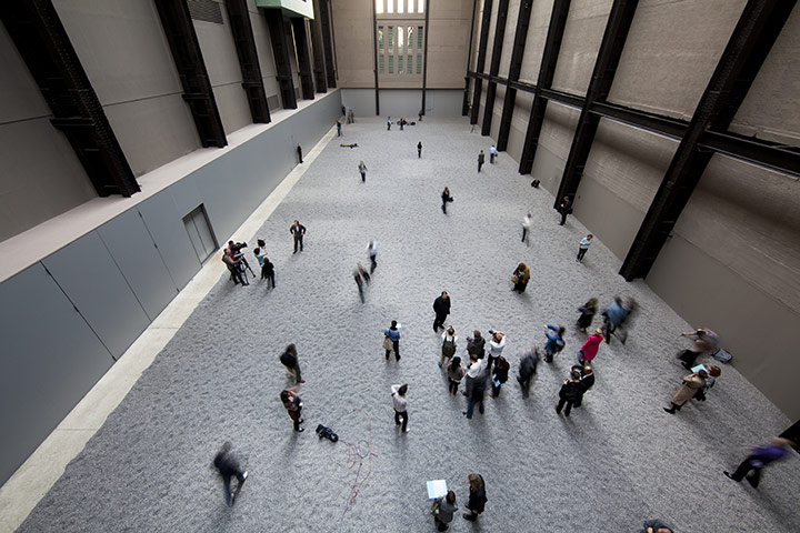 Turbine Hall: Aerial view of the 'Sunflower Seeds' in Turbine Hall