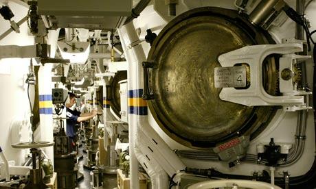 Trident missile tubes on HMS Vengeance