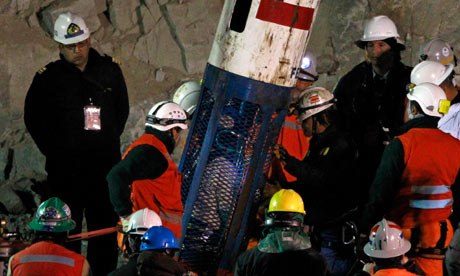 Chilean miners rescue, 13 October 2010