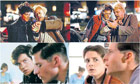 Eric Stoltz in two early rushes of Back to the Future, left, and his replacement Michael J Fox.