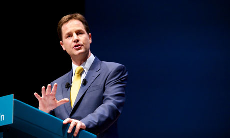 Nick Clegg at Liberal Democrat conference 2010
