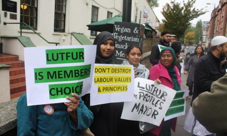 Lutfur Rahman supporters