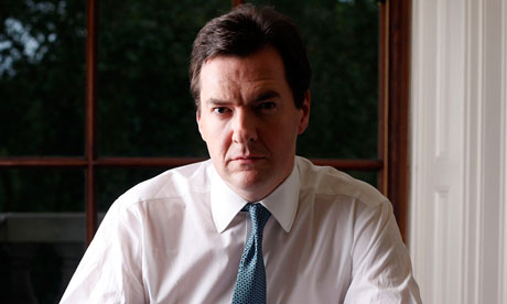 The Chancellor of the Exchequer George Osborne in his office at the Treasury