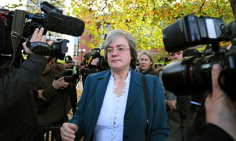 Mary Bale leaves Coventry Magistrates Court, October 2010