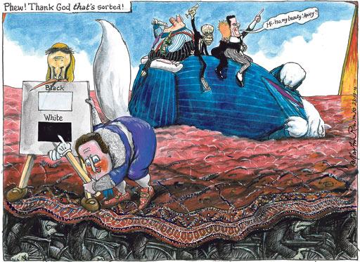 23.10.2010 Steve Bell cartoon