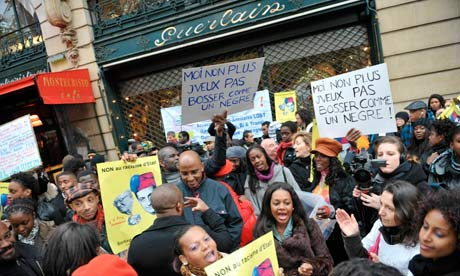 Demonstration against Jean-Paul Guerlain