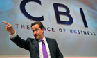 David Cameron addresses the CBI