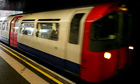 A Piccadilly line tube train