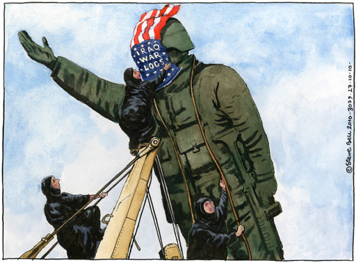 Iraq War Logs - Steve Bell cartoon