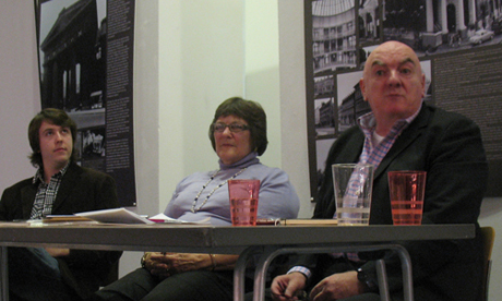 Members of the panel chaired by Cardiff Civic Society's Peter Cox (far right) discuss conservation issues in Cardiff at Why Conserve?
