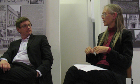 Members of the panel discussed recent issues for Cardiff including Bute Park, Cardiff Castle and local planning applications. In this picture John Edwards and Judi Loach