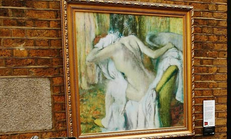 A reproduction of Degas's After the Bath, Woman Drying Herself